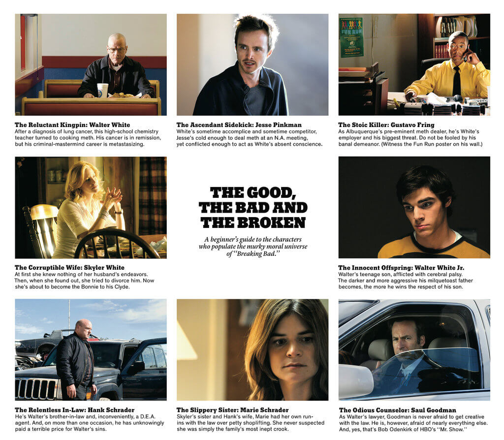breaking bad cast role description