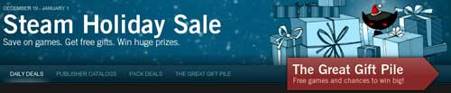 Steam Holidays sale Winter
